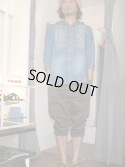 画像1: IROQUOIS//C/T FOODDENIM 7SLEEVE SHIRT☆BID